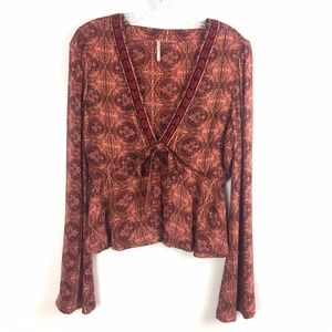 Free People Time of Your Life Rayon Blouse